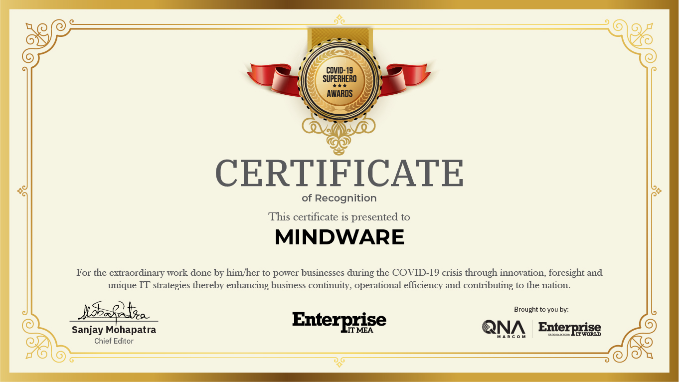 """Mindware wins """"Best Cloud Distributor"""" award in the Covid-19 superheroes technology summit"""